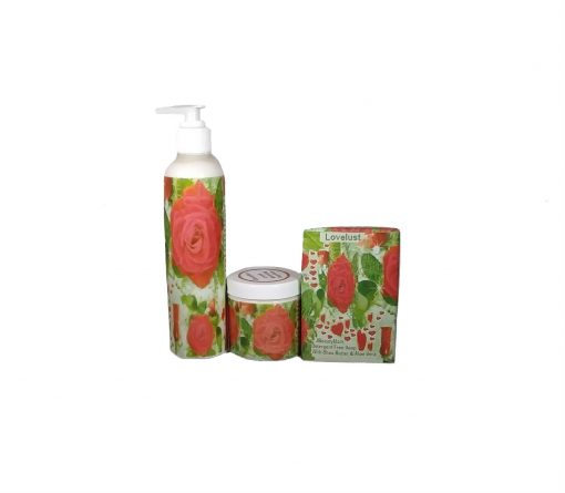 LOVELUST soap butter and lotion