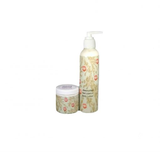 red lipstick Lotion and Butter Set
