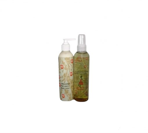 Red lipstick Lotion and Mist Set