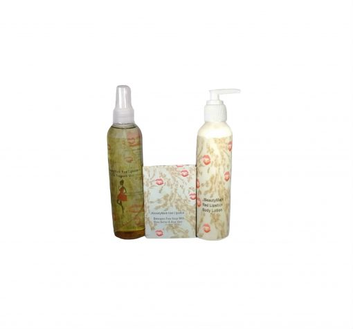 red lipstick Mist Soap and Lotion Set